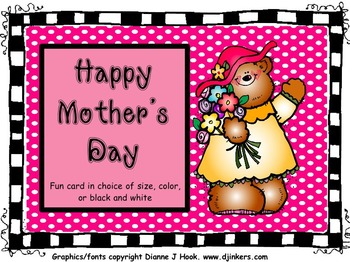 Mother's Day Fun Combo: Coupon Book and Mother's Day Card