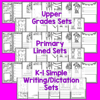 Mother's Day Gift! K-5! Three Sets Included! Writing, Poetry, Quotes, Art!