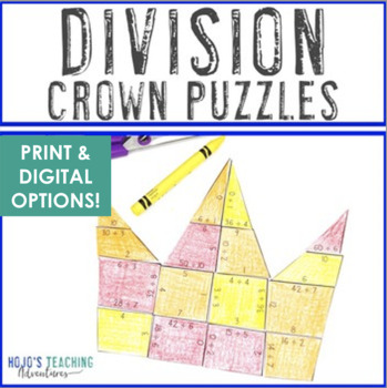 DIVISION Crown Puzzles | Great for Mother's Day Math Fact Practice or Review