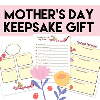 mother 39 s day gift printable book pre k to grade 2 tpt. Black Bedroom Furniture Sets. Home Design Ideas