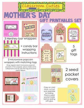 Mother's Day Gift Printables Set