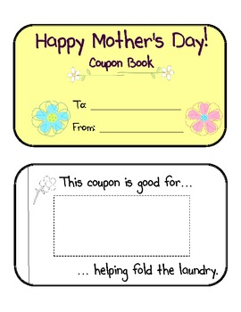 Mother's Day Gifts- Cookbook and Coupon Book
