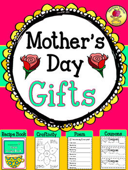 "Mother's Day Gifts! {Recipe Book +""I Am Your... You are My"" Poem + Craftivity}"