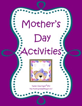 Mother's Day Gifts and Writing Activites