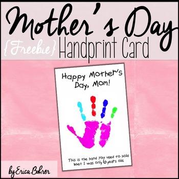 Mother's Day Handprint Card Freebie