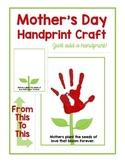 Mother's Day Handprint Craft FREEBIE!