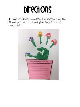 Mother's Day Handprint Flower Bouquet  FREEBIE