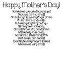 Mother's Day Handprint Poem