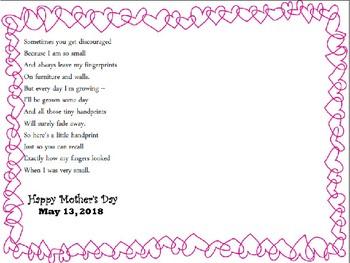 mother 39 s day handprint poem freebie by firstgradefriendz teachers pay teachers. Black Bedroom Furniture Sets. Home Design Ideas