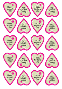 Mothers Day Heart Sticker