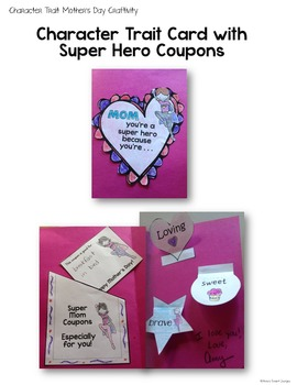 Mother's Day Hearts and Heroes: A Character Trait Lesson with Printables