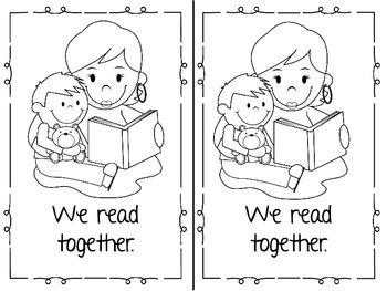 Mothers Day, I Love My Mom Emergent Reader & Centers