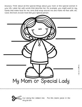 Mother's Day Interactive Flip Book: Flipping Over Mother's Day