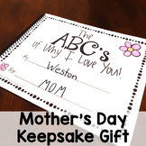 Mother's Day Gift ABC Book Writing Activity