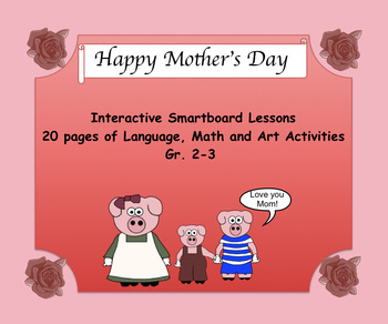 Mother's Day Language, Math, Art Activities PDF Gr. 2-3