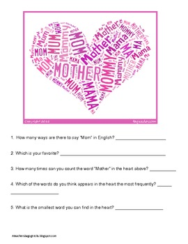 Mothers Day Learning Fun