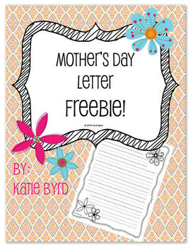 FREEBIE!  Mother's Day Letter Writing papers