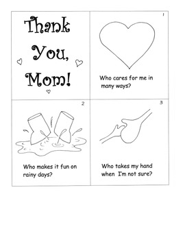 "Mother's Day Little Gift Book ""Make A Book"" Activity"