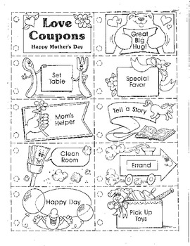 Mother's Day Love coupon book