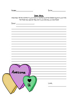 Mother's Day Mania packet! Math AND Literacy worksheets! F
