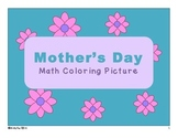 Mother's Day Math Coloring Picture - Multiplication, Division, Integers