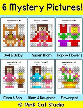 Mother's Day Math Centers - Place Value, Addition, Subtraction and Sequencing