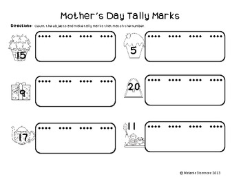Mother's Day Math Printables for Grades K-1