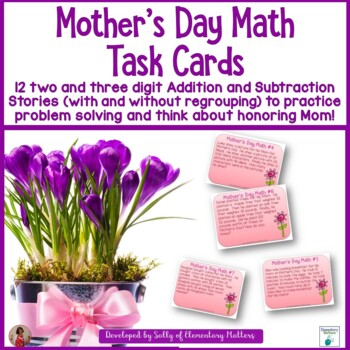 Mother's Day Math Task Cards