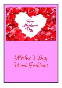 Mother's Day Math activities fractions decimals percent word problems