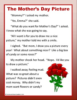 Mother's Day No Prep Math and Literacy Activities First Grade Common Core