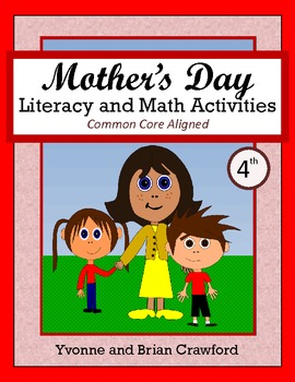 Mother's Day No Prep Math and Literacy Activities Fourth Grade Common Core