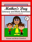 Mother's Day No Prep Math and Literacy Activities Third Gr