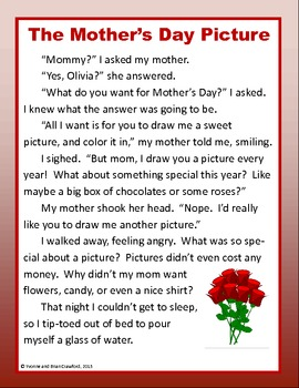 Mother's Day No Prep Math and Literacy Activities Third Grade Common Core