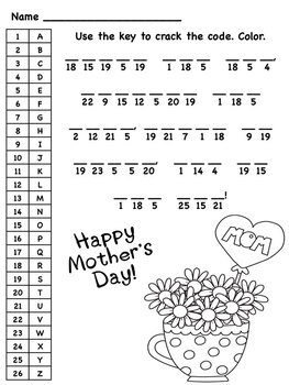mother 39 s day math and literacy printable pack by elementary elle. Black Bedroom Furniture Sets. Home Design Ideas
