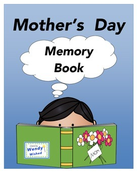 Mother's Day Memory Book:  8 pages of memories of Mom (instead of a card)