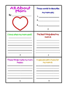 Mother's Day Mini-Books