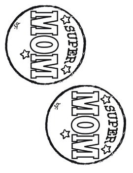 Mother's Day Craft and Writing Activity: Supermom Theme