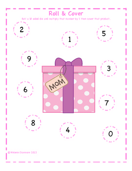 Mother's Day Multiplication Roll and Cover