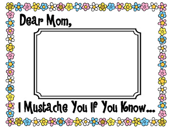 Mother's Day Mustache Simile Book