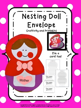 Mothers Day Nesting Doll Envelope or Card Craftivity