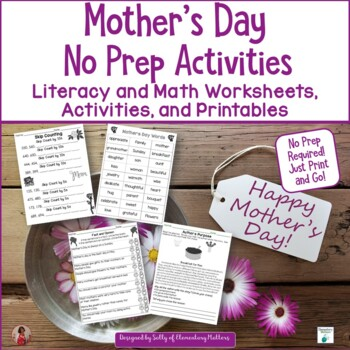 Mothers Day No Prep Activieies for Literacy and Math