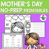Mother's Day NO PREP Printables