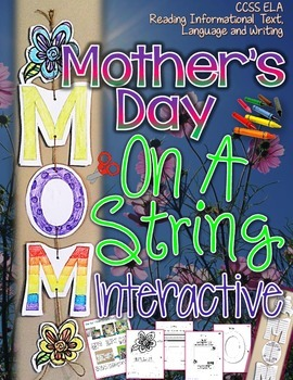 MOTHER'S DAY: ON A STRING INTERACTIVE {ALL ABOUT MOM WRITING CRAFTIVITY}
