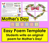 Mother's Day Writing Easy Poem Template!
