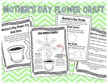 Mother's Day Literacy, Activities, Craft