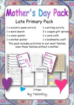 Mothers Day Pack Upper Primary