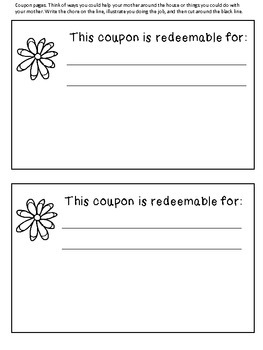 Mother's Day Personalized Coupon Book
