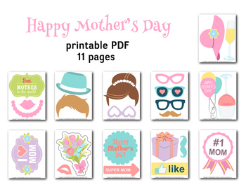image relating to Free Photo Booth Props Printable Pdf known as Moms Working day Image Booth Props Printable Enjoy Mother Bash Photobooth Prop 0180