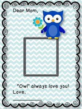 "Mother's Day Photo Template FREEBIE ""Owl"" always love you!"