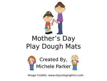 Mother's Day Play Dough Mat/Play-Doh/Playdough FREEBIE